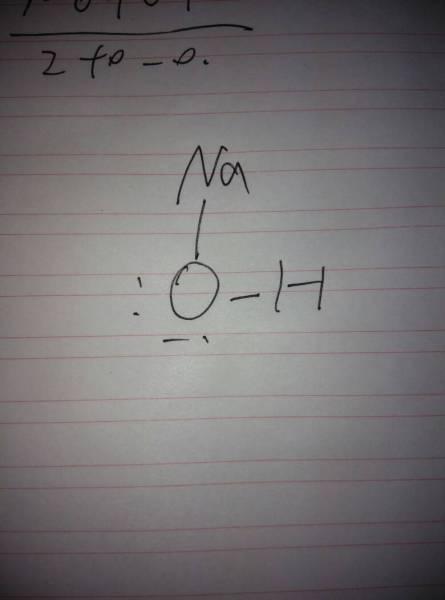 氢氧化钠路易斯结构和几何构型图片