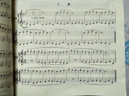 比较简单的钢琴曲谱子图片图片