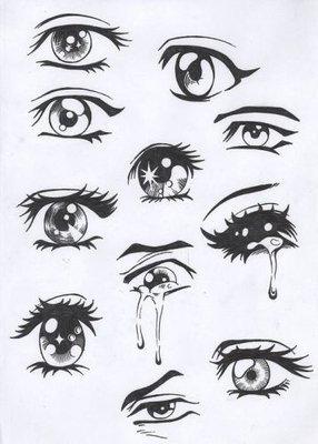 画动漫人物眼睛的技巧,素描眼睛,画动漫人物眼睛步骤图