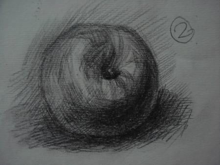 素描苹果怎么画呀?图片