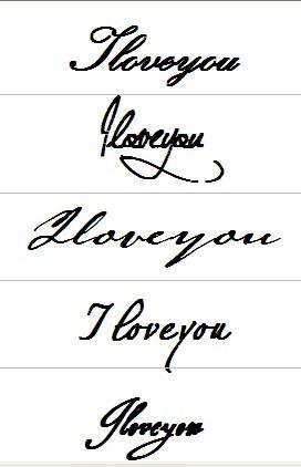最有艺术的iloveyou写法图片