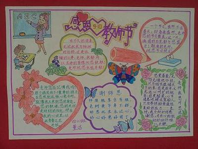 小学四年级英语以《教师节》为主题的手抄报