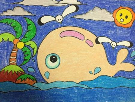 小孩画画简单图片大全 一笔一画教小孩画画 小学生画画大全 幼儿画画