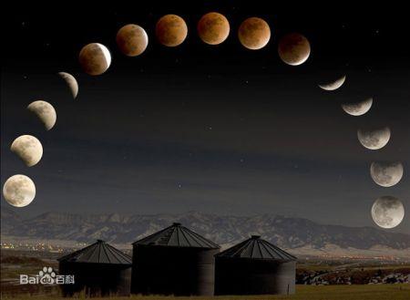 月亮不同形状的叫法图片