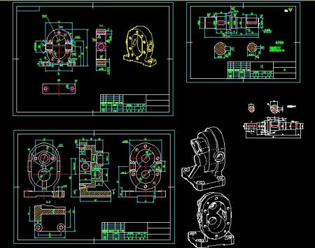 谁有齿轮油泵的cad装配图和零件图,帮忙发一下,十分感谢 787811053图片
