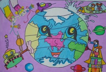 小学四年级科幻画怎样的好看?图片