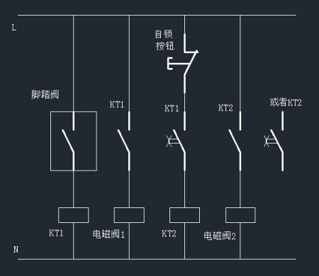 求四个继电器两个电磁阀两个气缸两个接近开关接线图图片