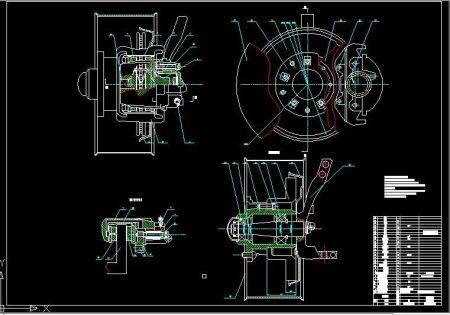 求 浮钳盘式制动器cad图装配