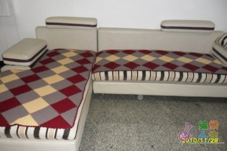 纯手工羊绒毛线编织 沙发坐垫   【图】手工编织毛线坐垫 高清图片