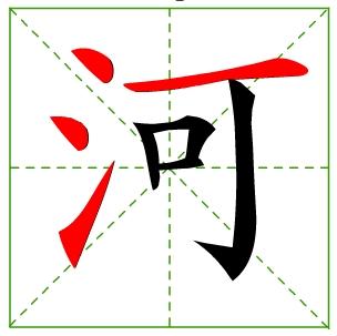 哥字的第5笔是什么笔画?图片