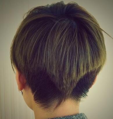 男生两边推掉 后面倒三角 的发型图片