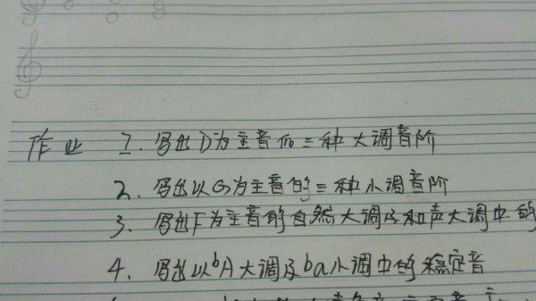 D为主音的三种大调钢琴音阶图片