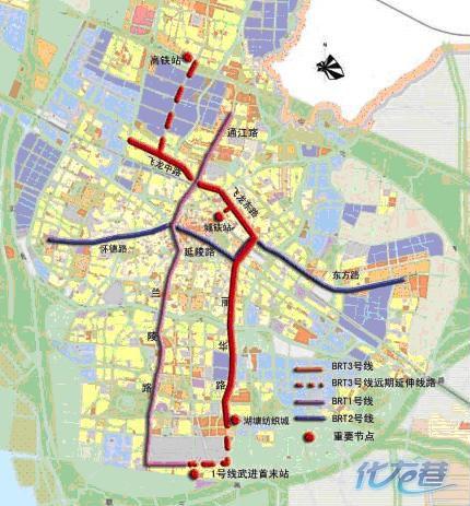 哪里有常州BRT2号线的规划线路图图片