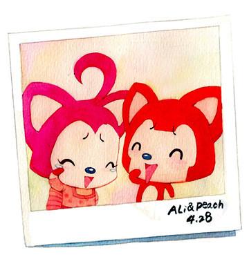 _阿狸桃子卡通图片_画阿狸和桃子的画法_阿狸桃子 ...