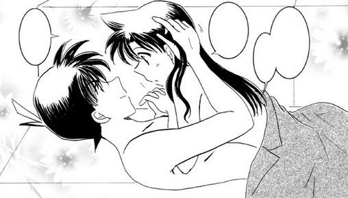 名侦探柯南邪恶漫画 名侦探柯南 名侦探柯南灰原哀接吻