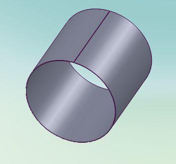 solidworks 钣金 怎么画一个圆柱体后展开成矩形,直接不能用法兰旋
