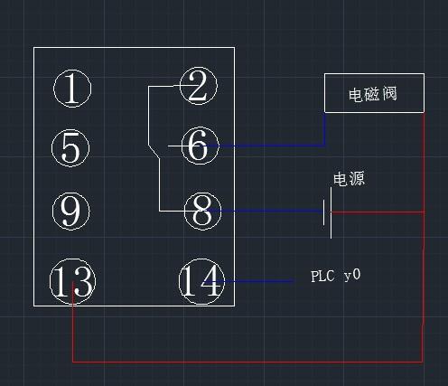 继电器与电磁阀控制单轴气缸与plc接线,最好有图,非常图片