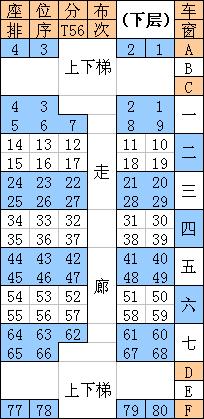 t56次列车座位分布图 t56人艺体高清图片