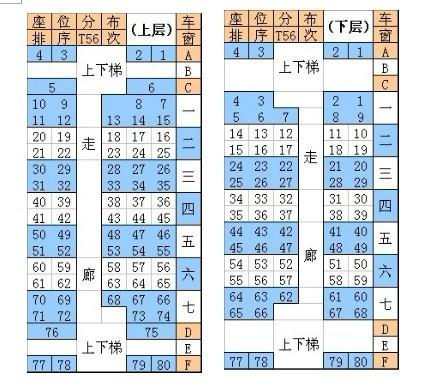 y514座位图片 y514列车座位分布,y514靠窗座位号