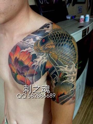 谁有好看的鱼纹身图图片