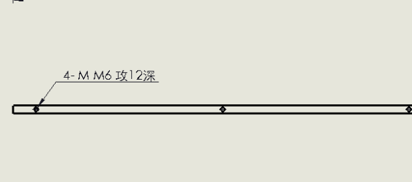 rks工程图中螺纹孔的标注问题