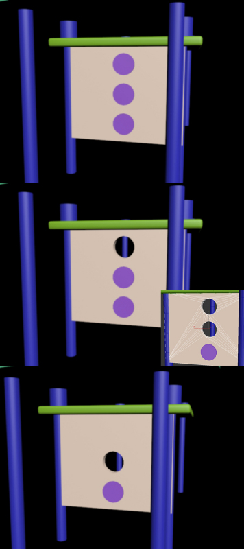 但是之后又出现了别的问题圆柱与长方体的结合,要在长方体上挖图片