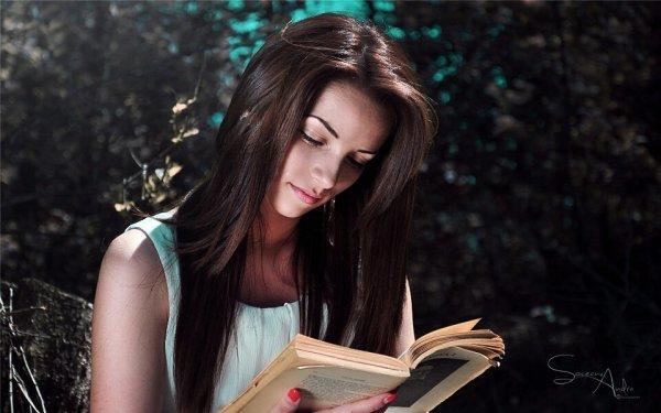 女生读书图片 唯美图片