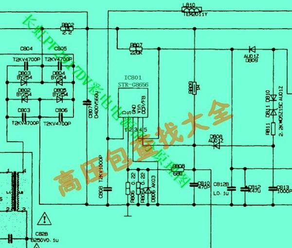 长虹pf2917dv电源的ic801是什么型号