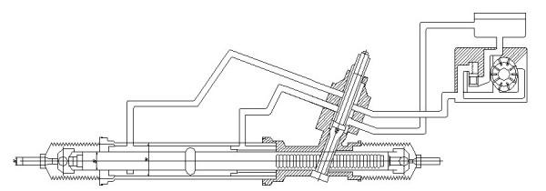 齿轮齿条转向器 分成机械式图片