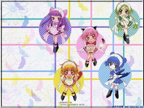 有个动漫是5个不同颜色的女孩