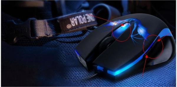 讯拓鼠标左侧的两个按键及上边的一个按键都有啥用处?