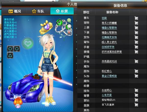 谁帮忙搭配 QQ飞车 的 衣服 要情侣的 女的头图片