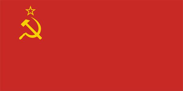 苏联国旗是一面左上角绘有交叉的镰刀和锤子以及一颗金边红星的红旗.