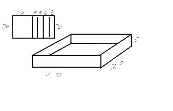 一块长方形苗圃的长_【有一块长40cm,宽20cm的长方形铁皮.把它切割后焊接成一个高5cm的 ...