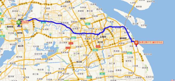 苏州城区出发自驾去浦东机场需要多少时间