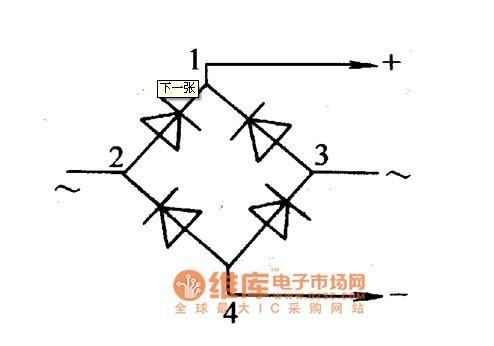 380V变直流220V用二极管怎么接,求电路图,图片