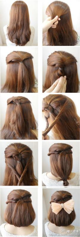 如何扎头发好看图片