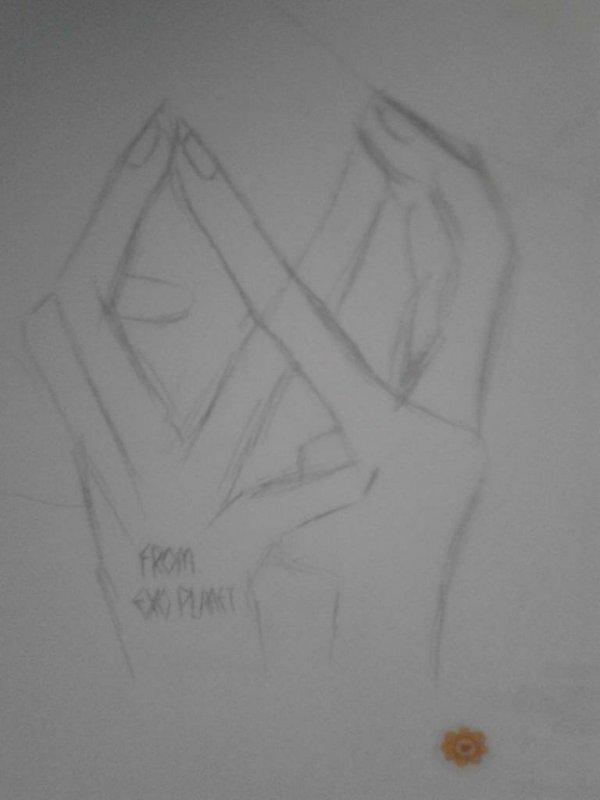 exo集体三个字母戒指折法