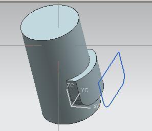 UG7.0如何在圆柱体圆弧面创建凸垫图片