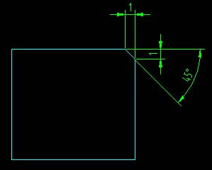 CADv倒角中倒角1x45°意识_百度知道cad螺上距看怎么牙图片