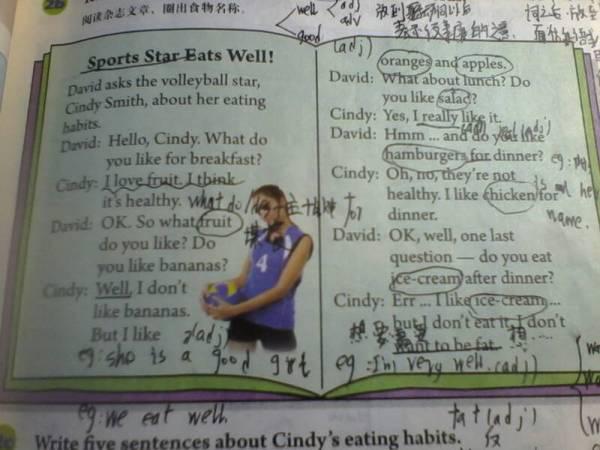 七年级上册英语人教版地五,六单元的作文是写的什么,我看不高清图片