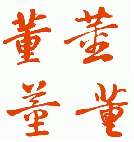 董字行书名家名帖写法图片