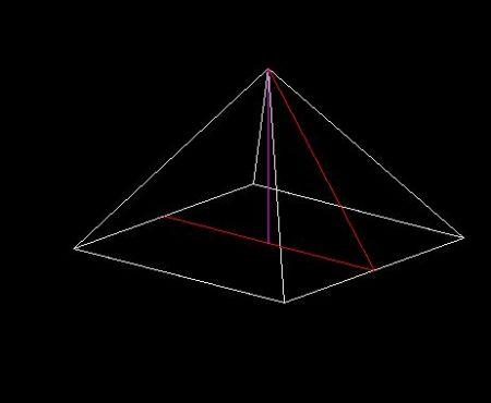 俯视图正方形 边长6 中间一个叉 也就是整体四棱锥 求表面积图片