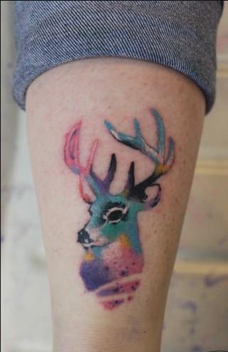 懂纹身的兄弟姐妹妹,有没有小鹿的纹身式样?图片