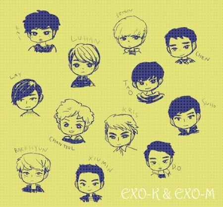 跪求EXO十二个人的动漫图