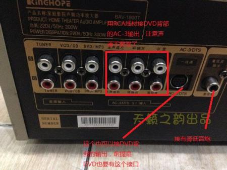 音响功放接线图解 吸顶音响接线图解 汽车功放音响接线图