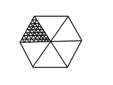一个边长4m的正方形地面,用边长50cm的正三角形铺砖需要多少块最好不图片