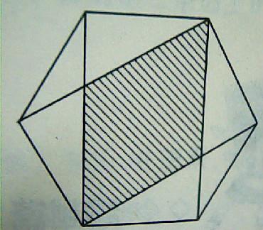 > 记两侧的这两个全等的钝角三角形的面积为2s三角形,中间的矩形图片