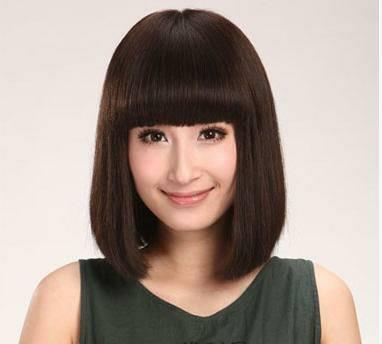 身高1米55高大扁脸女生适合哪种发型图片图片