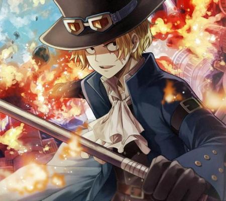 火拳萨博囹�a_萨博的恶魔果实能力继承自其兄长火拳艾斯,烧烧果实能力者.